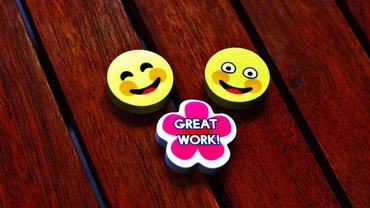 Gute Arbeit gut gemacht Danke Smiley