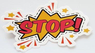 Stop Halt Illustration Comic